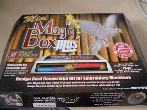 Mini Magic Bx embroidery machines mini magic box plus card for deco 500 600 650 was sold for r3 000 00