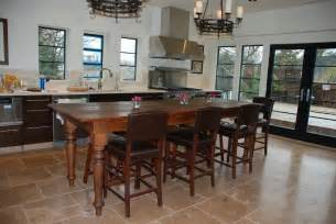Kitchen Island With Table Pine Tables Custom Farm Tables Harvest Tables Kitchen Islands Amp More