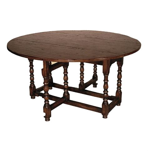 Gate Leg Dining Tables Tudor Style Rustic Gate Leg Drop Leaf Dining Table Kathy Kuo Home