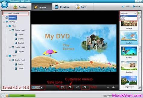 wondershare dvd templates wondershare dvd creator free version registration