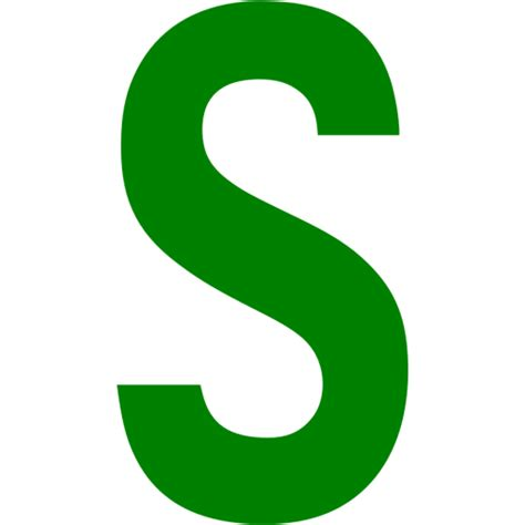 Green Letter S Icon Free Green Letter Icons