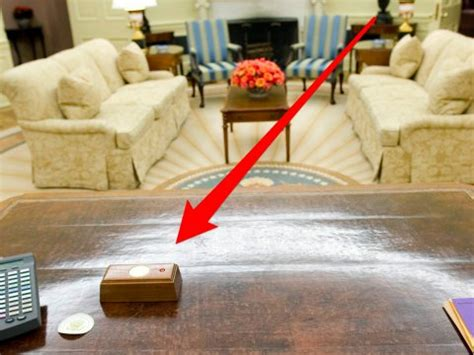 trump s desk trump s presidential desk has a tiny red button that he