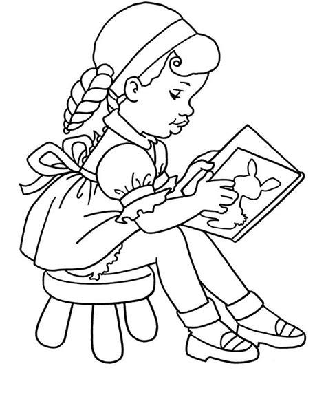 coloring page of school girl la ni 241 a lee dibujalia dibujos para colorear eventos