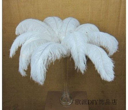 home decor 12x white fluffy ostrich plumes feather wedding