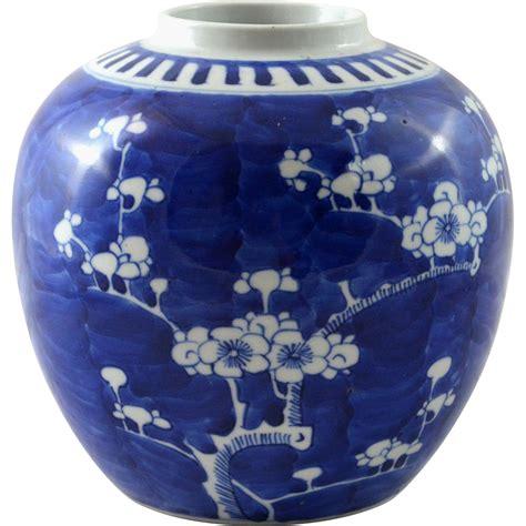 Antique Blue Vase Antique Chinese Cobalt Blue Vase Jar Prunus Or Hawthorn