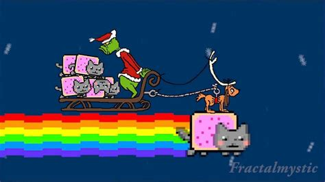 grinch stole nyan cat epic hd merry pop tart dr seuss christmas original youtube