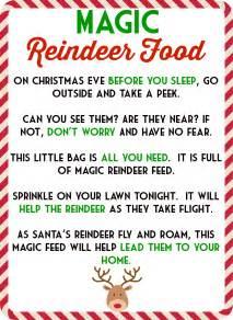 Reindeer food printable tags magic poem amp free printa