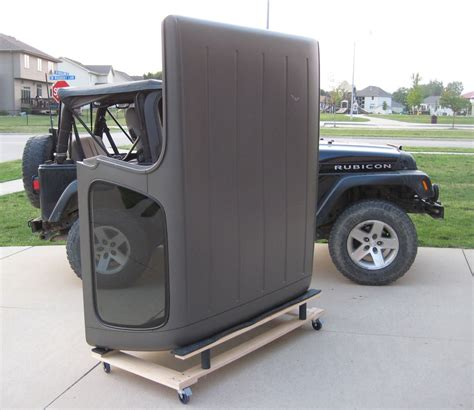 Jeep Hardtop Storage Cart Hardtop Storage Cart Holder Liftglass Retainer Bar For