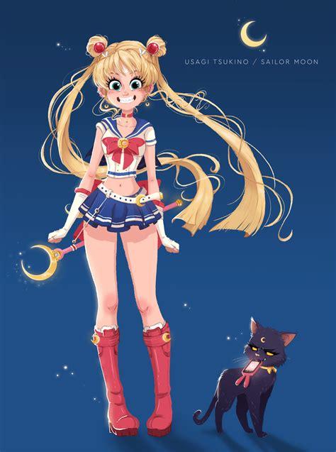 2 In 1 Salermoon sailor moon usagi tsukino character redesign design ideas