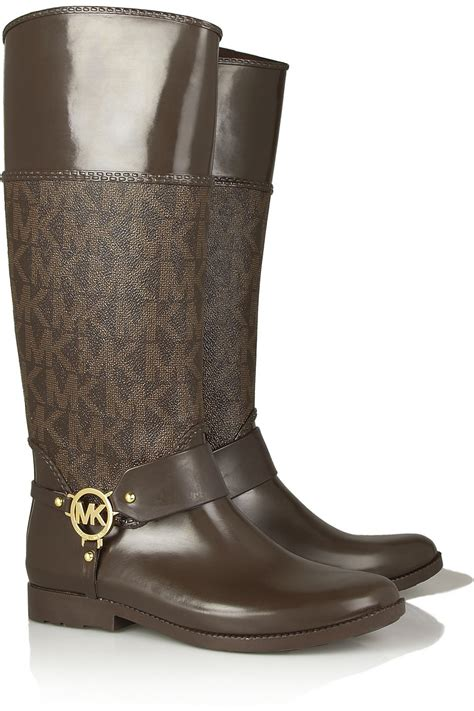 michael kors boots for michael by michael kors fulton printed rubber boots in
