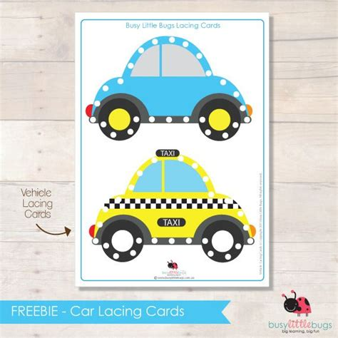 Education Card Transportation printable lacing cards are great for plane trips use shoe laces and bright motifs on laminated
