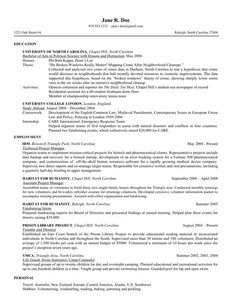 law student resume project scope template