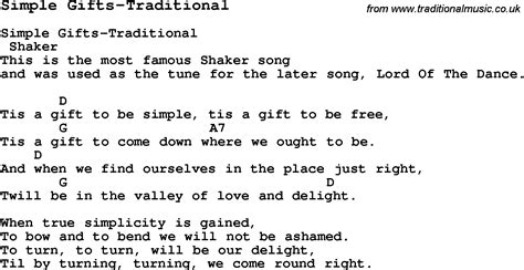 gift song summer c song simple gifts traditional with lyrics