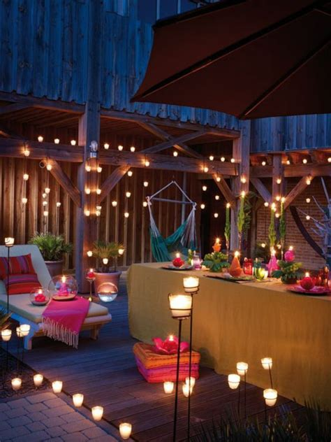 candle light decoration at home 40 terrace design pictures renew your terrace or balcony