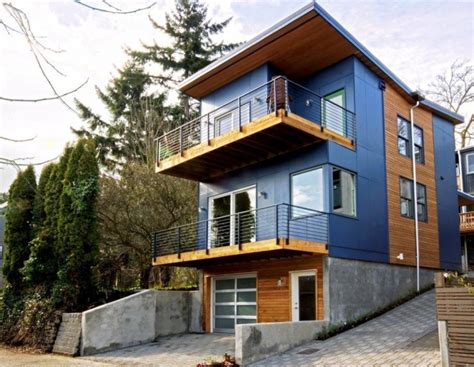 cost to build multi family home alley house 2 modern green seattle architects david