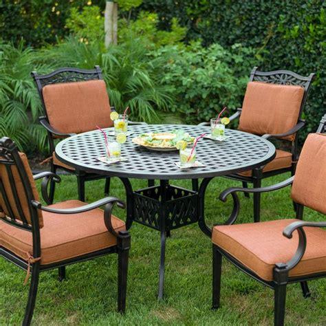 darlee charleston 4 person cast aluminum patio dining set