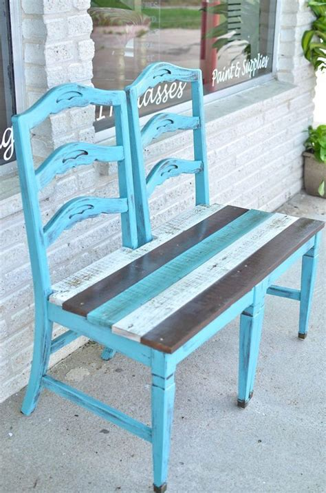 bench out of chairs 25 best ideas about chair bench on pinterest unusual