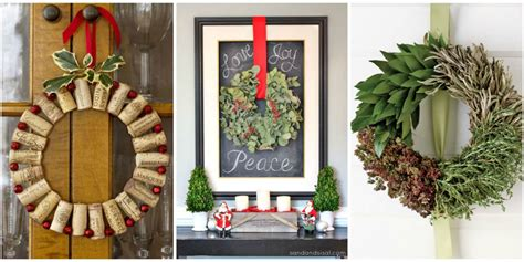 christmas decorations diy 50 diy christmas wreath ideas how to make holiday