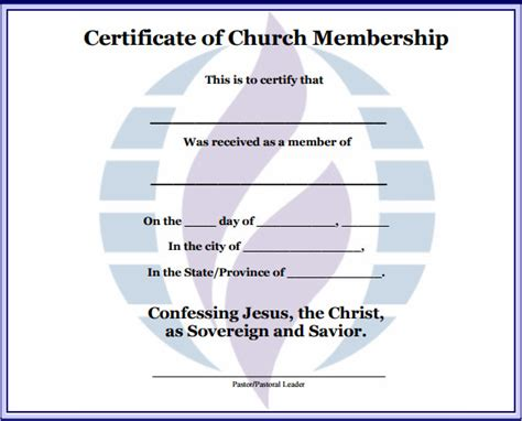 free church membership card template search results for free printable membership certificate