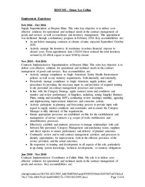 resume sl resume sl collins 20170111