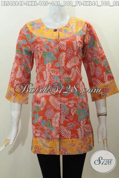 Batik Printing Bahan Halus Model Banyak Btm01011 aneka pakaian batik wanita buatan baju blus modern