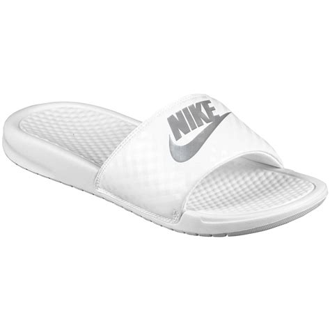 white nike sandals for nike benassi just do it white white womens sandals