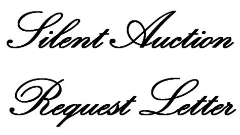 Explanation Letter Why I Cannot Submit Requested Document silent auction request letter