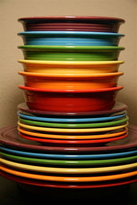 multi colored dishes dishwasher fiestaware