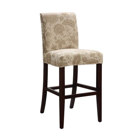 bar stool slipcovers powell classic seating woven gold with taupe floral