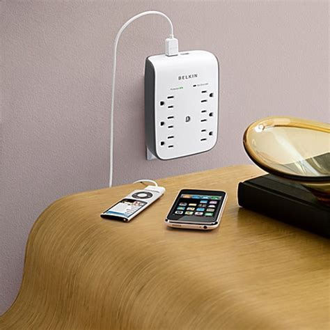 surge protector with usb charging ports belkin wall mountable 6 outlet surge protector with usb