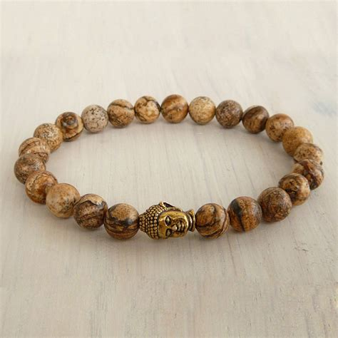 stretch beaded bracelets sn0231 buddha wrap bracelet jasper beaded stretch