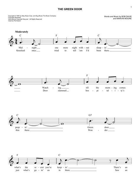 Green Door Lyrics by Door Chords Bob Knockin U0027 On Heaven U0027s