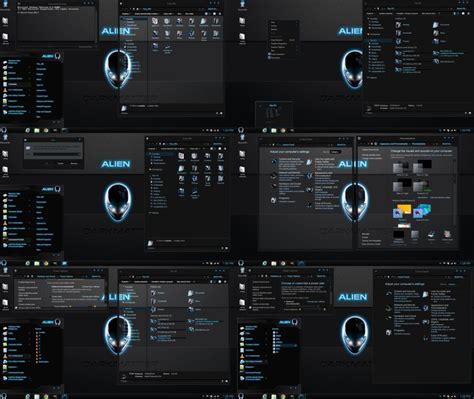 glass themes for windows 8 1 free download windows 8 1 theme alien darkmatter glass dark by