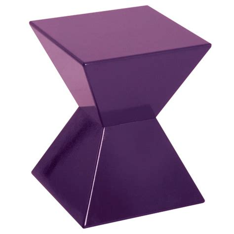 purple coffee table edge funky end table in purple high gloss lacquered 10959