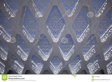 abstract arabic pattern detail of a modern arabic abstract building stock image