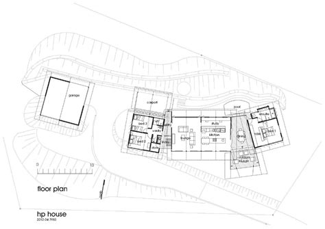 hp on floor plan gallery of hp tree house mmp architects 11