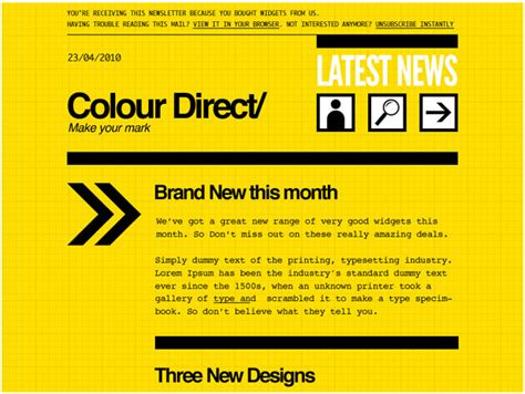 do s and don ts for designing email newsletters