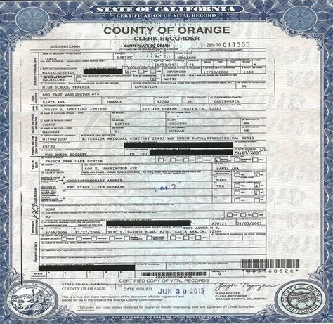 Orange County Divorce Records Birth Certificates Orange County