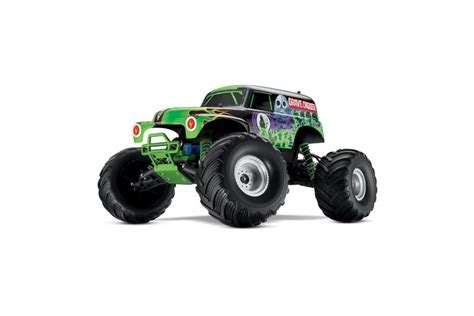 remote control monster truck grave digger traxxas monster jam grave digger xl 5 electric rc remote