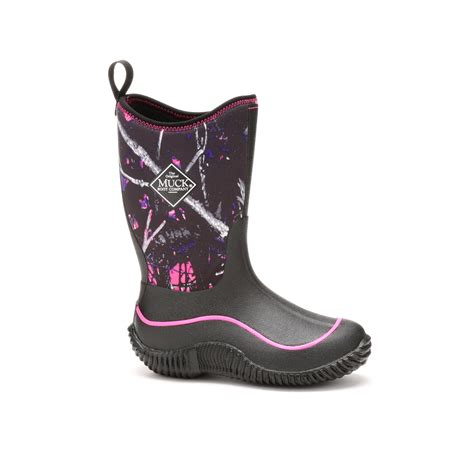 muck boots muck boots kid s hale outdoor sport boot black muddy