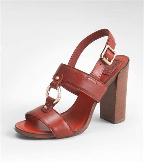 burch high heels burch fletcher high heel sandal in rust lyst