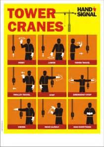 crane safety poster   tower crane hand signals safety poster shop