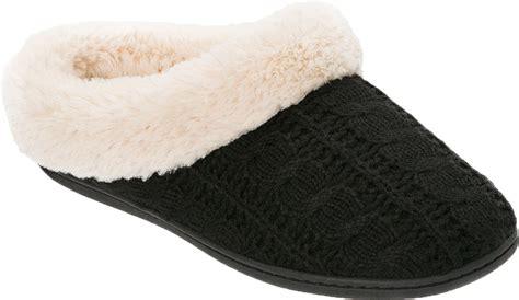 dearfoam house shoes dearfoams womens cable knit clog slipper ebay