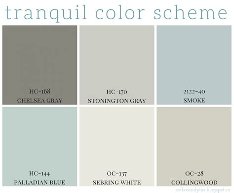 tranquil colors coffee and pine tranquil color scheme