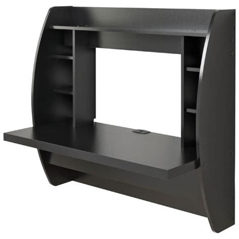 Buy Black Desk Contempoary Floating Desk Black Desks Workstations