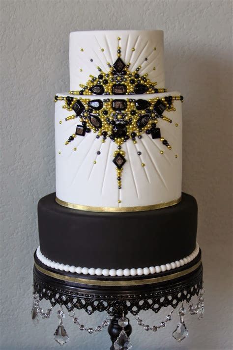 gold themed cake black and gold jeweled old hollywood cake red carpet
