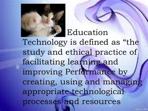 promoting educational technology to improve student
