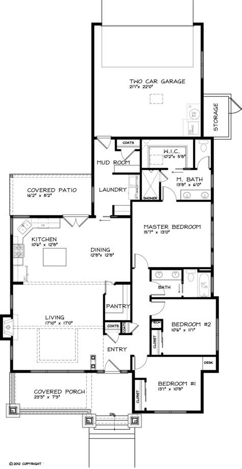 Craftsman Style House Plan   3 Beds 2.00 Baths 1749 Sq/Ft