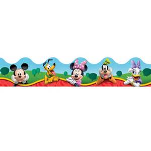 Chevron Wall Sticker mickey mouse clubhouse characters bulletin board trim