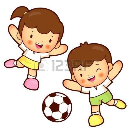 dibujos de niños jugando futball image gallery jugar animado